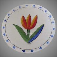 Vintage Ulrike Hydman Vallien for Kosta Boda Tulipa Tulip Large Serving Platter