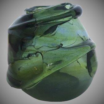 Vintage Studio Art Glass Biomorphic Paperweight Vas by JOAN REEP Signed