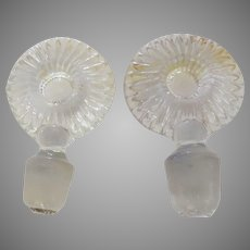 Pair Glass Bullseye Target Decanter Stoppers 18th Century