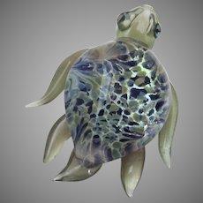 Vintage Italian Murano Gold Fleck Glass Turtle