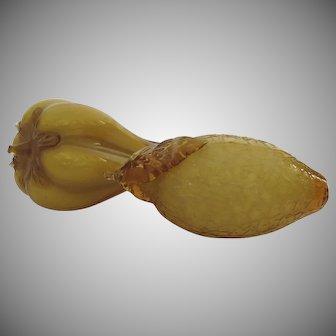 Vintage Amber Gold Fruit Decoration