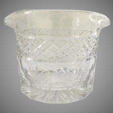Georgian Cut Glass Wine Rinser Double-Lipped 1800s