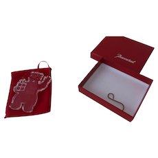 New in Box Pouch Baccarat Noel Christmas Ornament Teddy Bear 2004