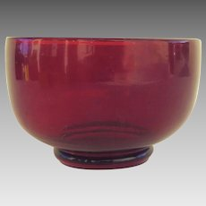 1900's Red Glass Finger Bowl