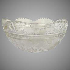 19th Cut Glass Bowl Star Pattern