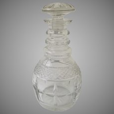 19th Century Cut Glass Robust Bar Decanter