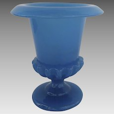 Vintage 1930's French Opaline Blue Urn Shaped Vase