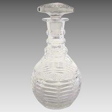 19th Century English Cut Crystal Decanter