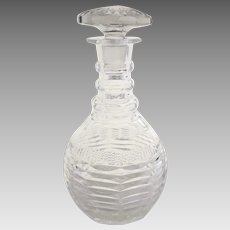 19th Century English Cut Crystal Decanter