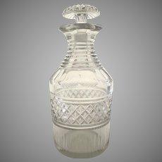 Georgian Cut Glass Decanter Irish