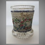 Bohemian Glass with Bead Work Decoration