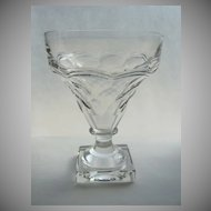 Four Square Base Crystal Wine Glasses