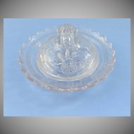 Child's Pressed Glass Covered Butter Dish