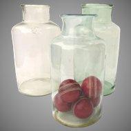 Vintage European Glass Blown Jars