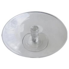 Vintage Glass Spiral Stem Pedestal Cake Stand