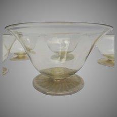 Vintage Venetian Glass Bowls (Set of 11) 20th Century Hand-blown