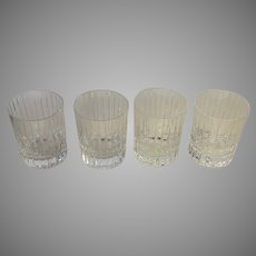 Baccarat Crystal Signed Baccarat Harmonie Tumblers Old Fashion