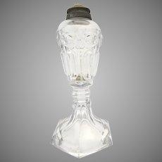 "Late 19th Century Sandwich Glass Whale Oil Lamp 8 1/2"""