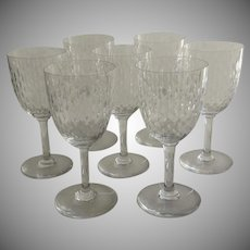 7 x Baccarat Wine Glasses Atems Pattern of Paris