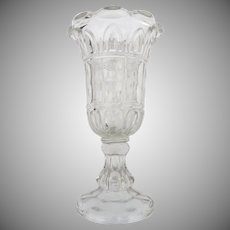 19th Century Flint Glass Large Celery Vase