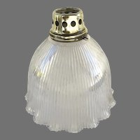 Vintage Prismatic Glass Pendant Lampshade with Brass Fitter Holophane Extensive USA