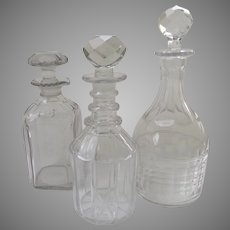 Group of 19th Century Glass Decanters Bar Ware