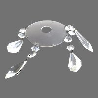 Vintage Clear Crystal Chandelier Bobeche 1 Piece