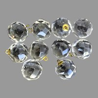 Vintage Clear Crystal Chandelier Beads 10 Pieces