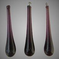 Vintage Czech Chandelier Prisms Purple Teardrop (3)