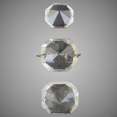 Vintage Chandelier Octagon Glass Prisms Large (3)