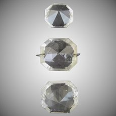 Vintage Chandelier Octagon Glass Prisms Large (3)