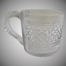 English or Irish Cut Glass 1/2 Half Pint Tankard Mug 19th Century