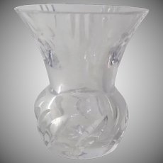 Vintage Clear Glass Bud Vase