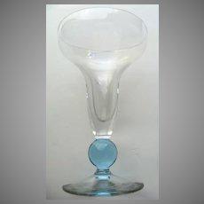 Set of 6 Bryce Contour Cerulean #869 Blue Stem Sparking Wine Champagne