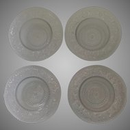 Set of Four (4) Duncan Miller Sandwich Glass Grapefruit Bowls