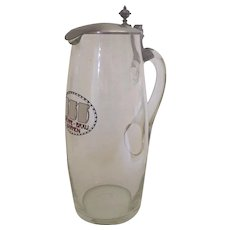 Bremme Brau Barmen Glass Pitcher Beer Pitcher Brewery