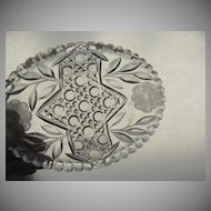 Brilliant Cut Crystal Oval Dish Bowl