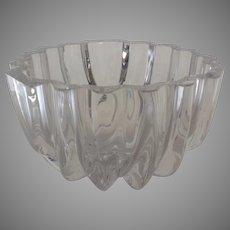 """Vintage Orrefors Large Crystal Bowl """"Isabella"""" by Lars Hellsten"""