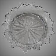 19th Century Cut Glass English Sweetmeat Dish