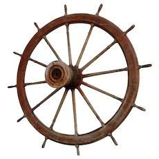 American Large River Ship's Boat Wheel