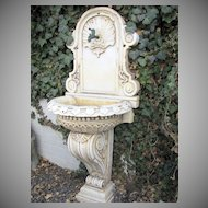 Wonderful 17th Century Italian Renaissance Marble Fountain with Shell Motif