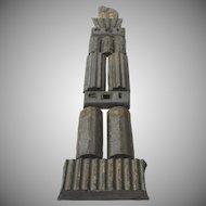 "Matha Daniels Ceramic Wall Sculpture ""Meteor Tower"""