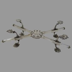 Vintage English Silver Plate Dish Cross by Prill Silver Co. of New York, NY.
