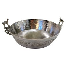 Spanish Colonial Bowl with Cast Handles