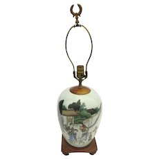 Chinese Export Famille Verte Ginger Jar/Lamp Qing Dynasty
