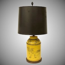Vintage Frederick Cooper French Tea Canister Tole Lamp
