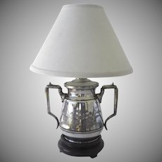 19th Century Aesthetic Silver Plated Sugar Now Mounted as a Lamp