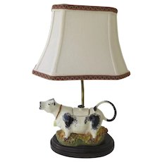 Vintage Staffordshire Cow Creamer Mounted as a Lamp Country