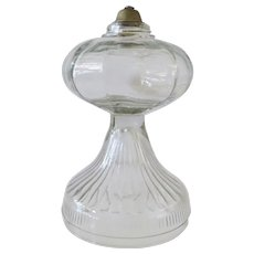 Pressed Glass Oil Lamp Base