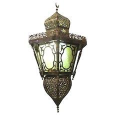 Moroccan Vintage Moorish Pierce Brass Hanging Lantern pendent Light